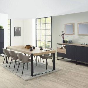 dressoir 213 cm, table avec rallonge de 183+50 cm et meuble bar de 121 cm