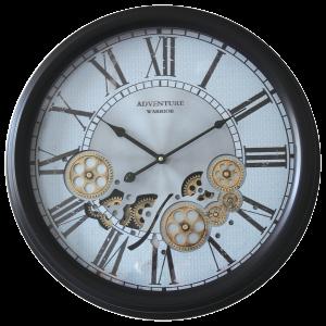Horloge murale adventure avec engrenages