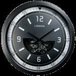Horloge engrenages mobiles noir