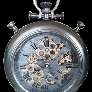 Horloge avec engrenage à poser sur une table