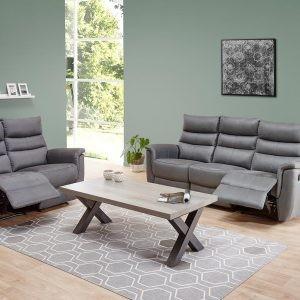 salon ensemble 3 places avec relax + 2 places avec relax