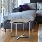 Petit table basse ronde en céramique argile