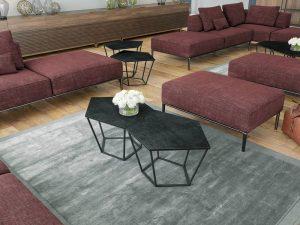 Table basse en céramique titane