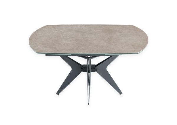 Table en céramique coloris gris