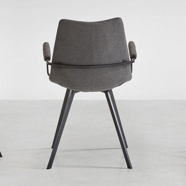 Chaise avec accoudoirs coloris gris foncé