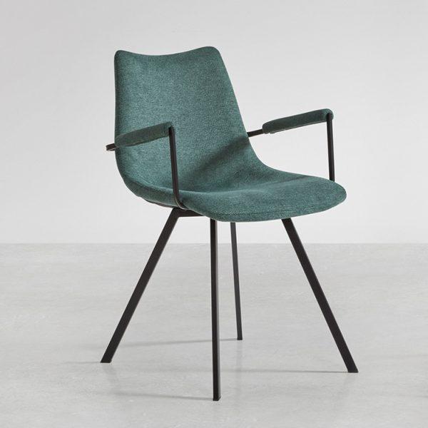Chaise avec accoudoirs coloris vert