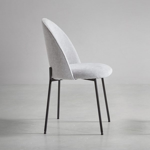 chaise de salle à manger tissus gris clair
