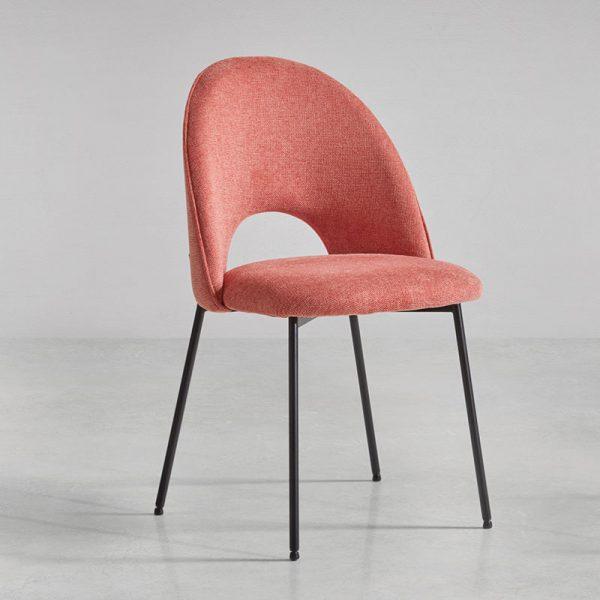 Chaise pour salle à manger coloris rose