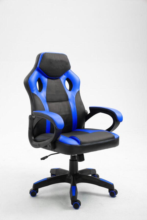 Chaise de bureau pour gamer bleu et noir