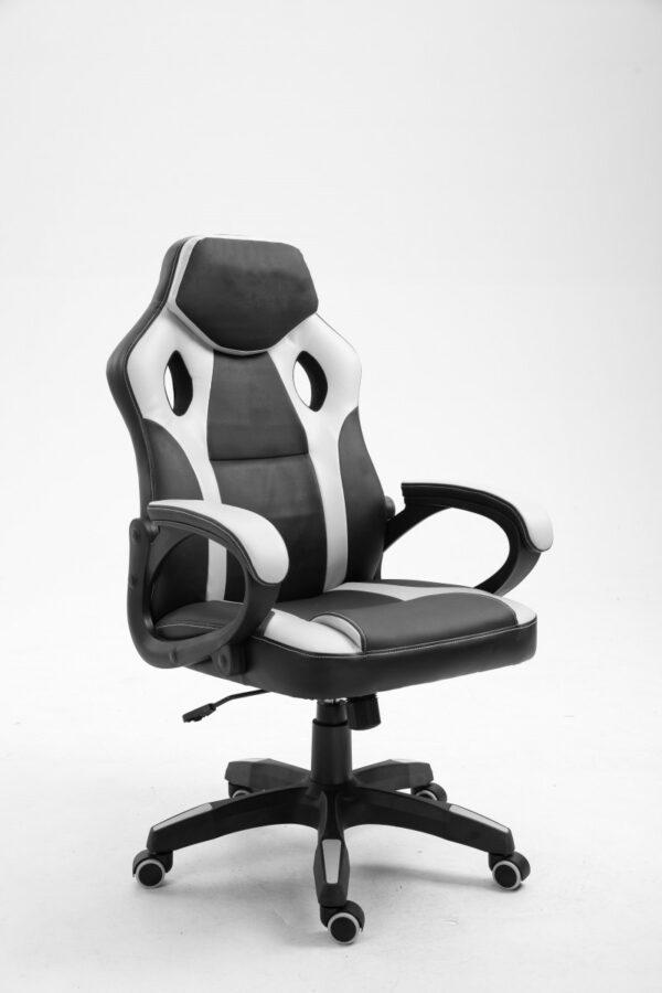 chaise gamer spike gris noir 9810-4