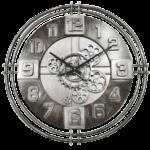 horloge avec engrenages mobiles metalica