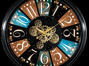 Horloge multi-color avec des engrenages qui bougent
