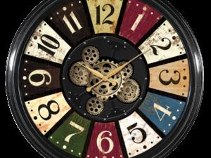 Horloge avec engrenages color diamètre 58 cm