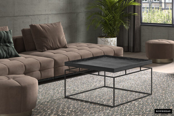 table basse aron métal noir