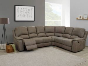 canapé d'angle deauville avec relax électriques tissu berwang