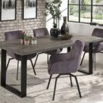 Table de salle à manger de 200x100 cm mangolia gris