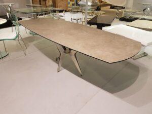 Table de repas en céramique avec rallonge intégrée