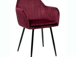 Chaise avec accoudoirs pour la salle à manger couleur bordeaux