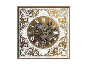 horloge avec engrenages mobiles vintage