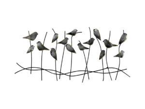 Décoration métallique murale :représentant des oiseaux