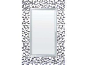 Miroir biseauté couleur argenté